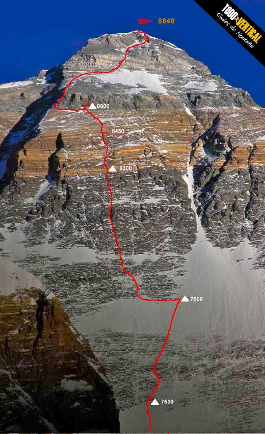 eda3e9d2c192b La primera expedición exploratoria de Mallory vio una arista que partía  desde la base de la vertiente Este de la montaña para ...