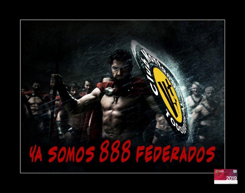 YA SOMOS 888 FEDE...