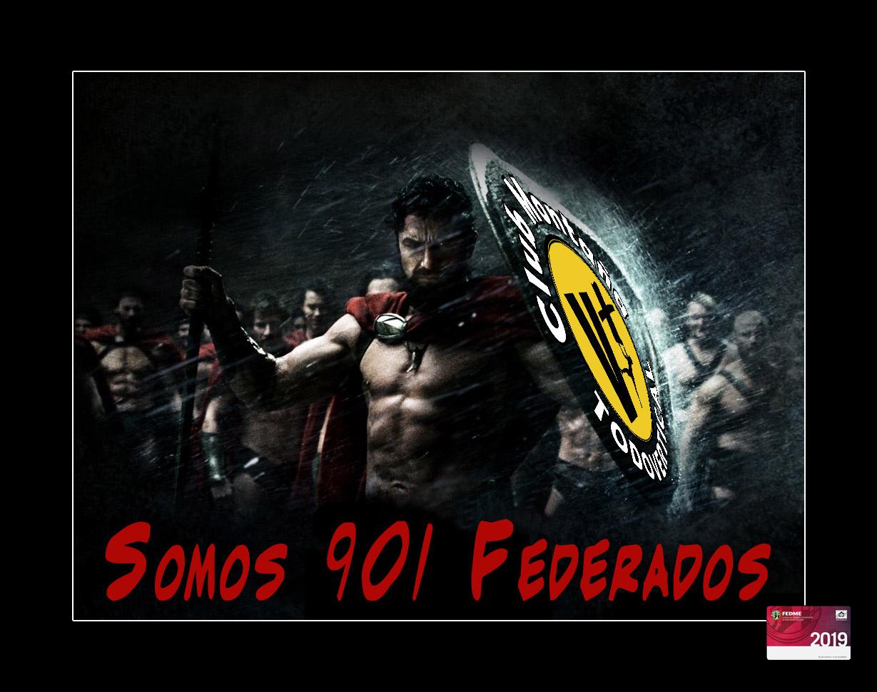 FELICIDADES YA SOMOS 901 FEDERADOS EN EL 2019 *(1 Febrero 2019)