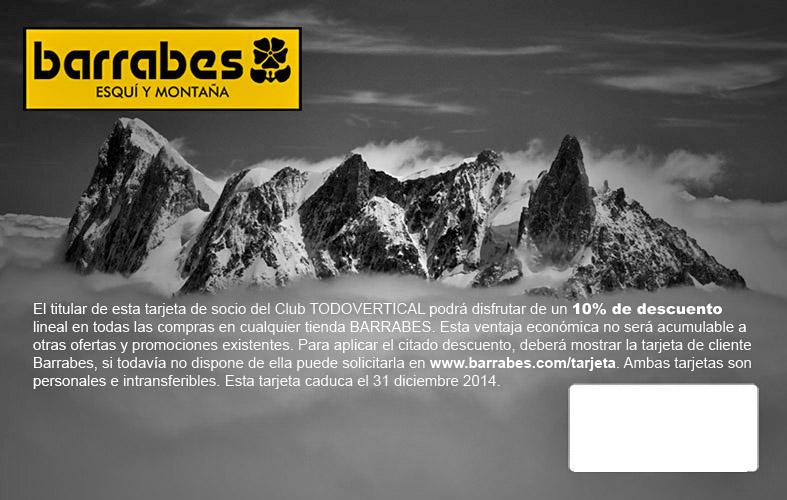 Enviadas las tarjetas Todovertical-Barrabes gestionadas hasta el 25 de marzo 2013