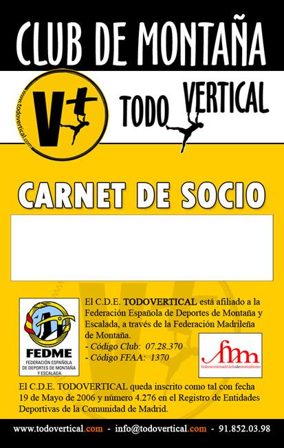CARNET SOCIO CLUB...