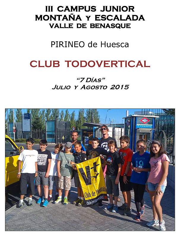 CLUB TODOVERTICAL -  ESCUELA JUNIOR