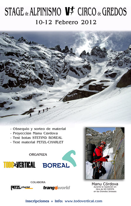 CARTEL del Stage TODOVERTICAL - BOREAL de Febrero 2012