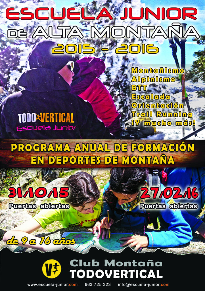 CARTEL ESCUELA JUNIOR 2015-2016