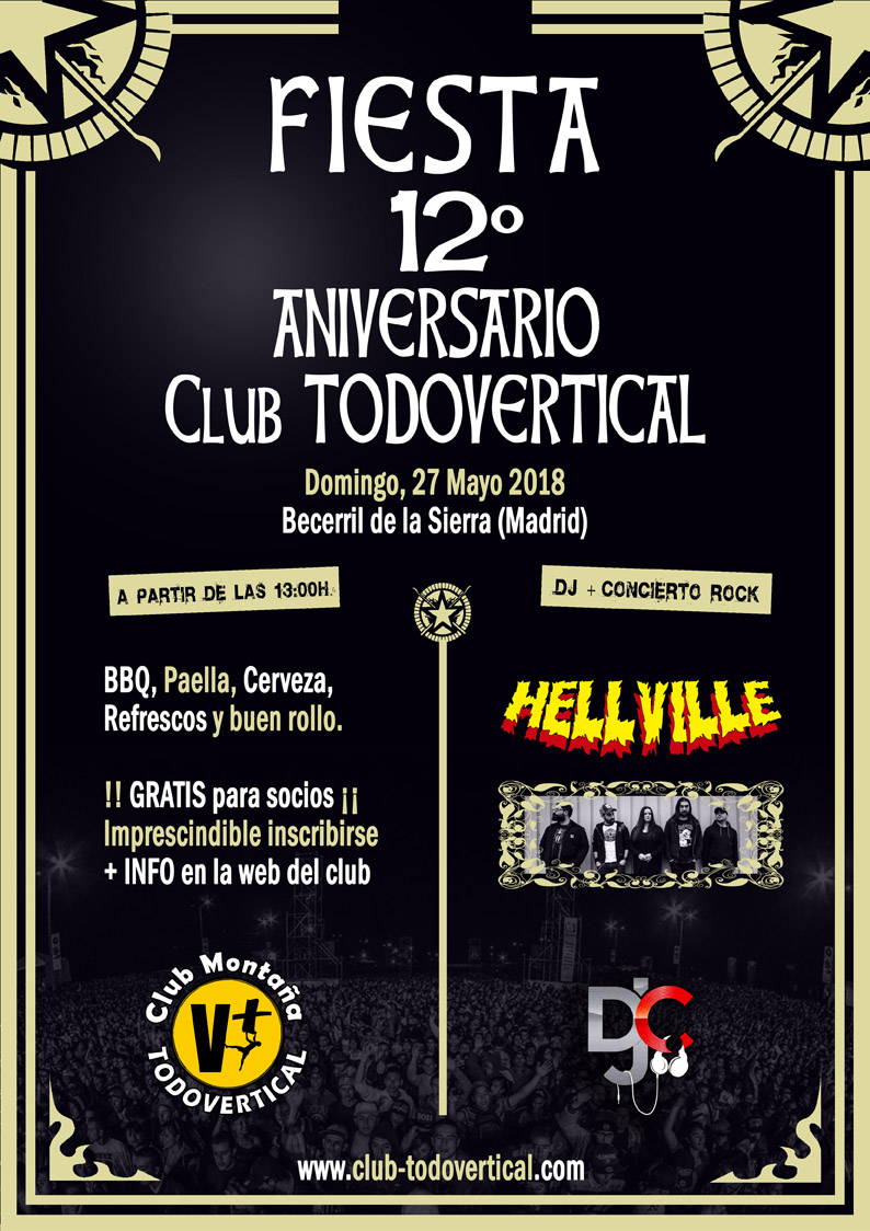 FIESTA 12º ANIVERSARIO Club TODOVERTICAL