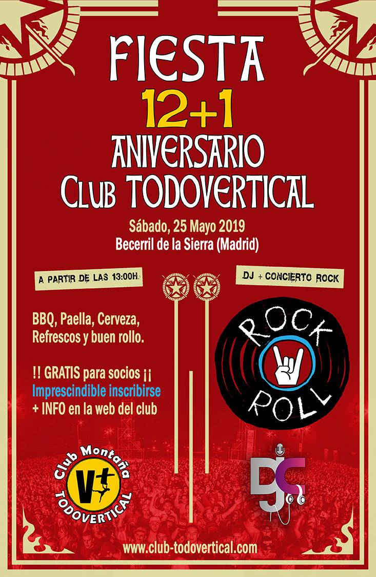 Fiesta 12+1º Aniversario Club TODOVERTICAL