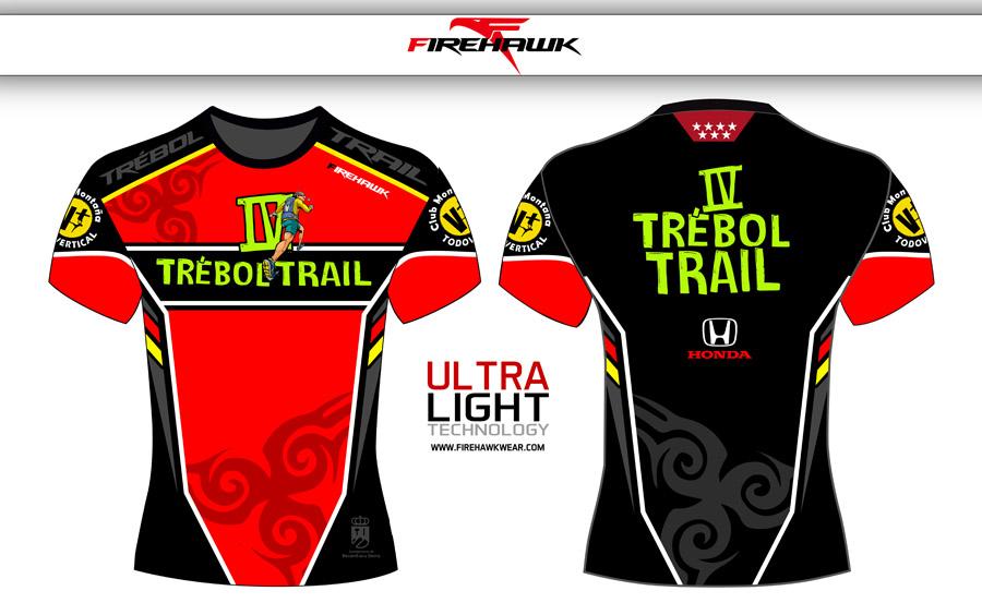 Camiseta de la carrera Trébol Trail 2018