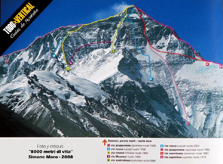 Intento de apertura de nuevas rutas en el EVEREST 2013 por tres equipos muy fuertes. Historia y rutas del Everest hasta la fecha.