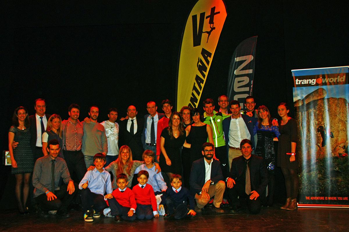 Premiados, jurado y presentadores de la Gala de las Becas TODOVERTICAL 2013 - 25 Enero 2014