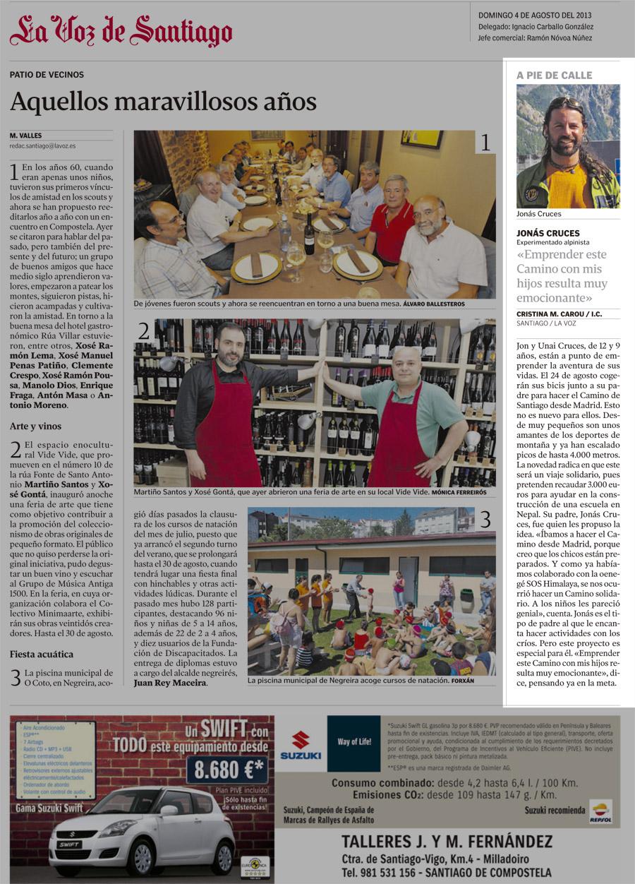 La Voz de Galicia...
