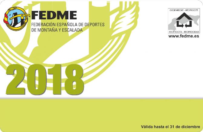 LICENCIA FEDME 2018