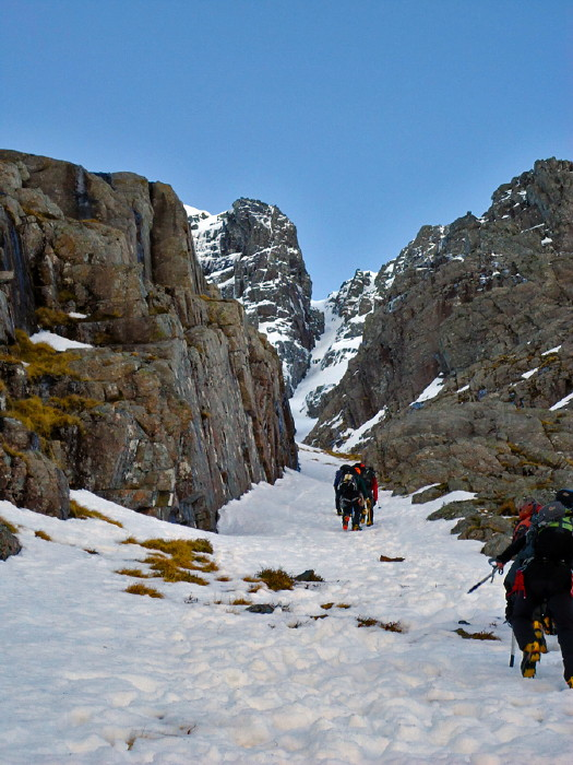 BEN NEVIS 1.344m - Cara Norte - South Castle Gully (II, WI2,210m) #02
