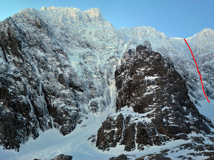 TOPO BEN NEVIS (1.344m) - Cara Norte - Point Five Gully (V, 5, 300m)