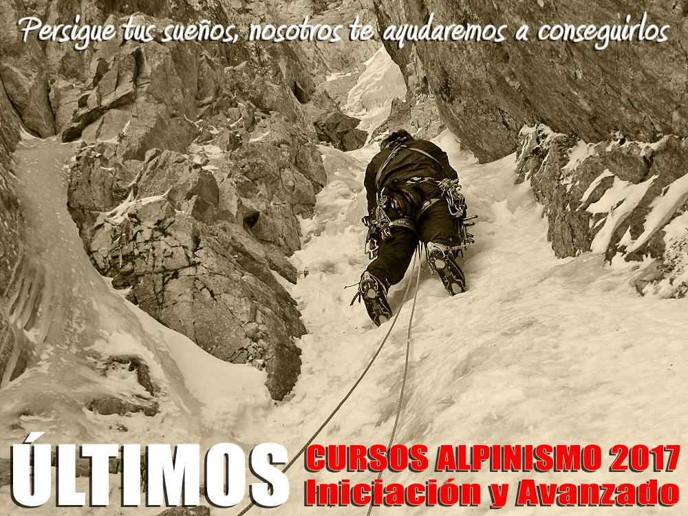 Últimos cursos de alpinismo (iniciación y avanzado) invierno 2016-17