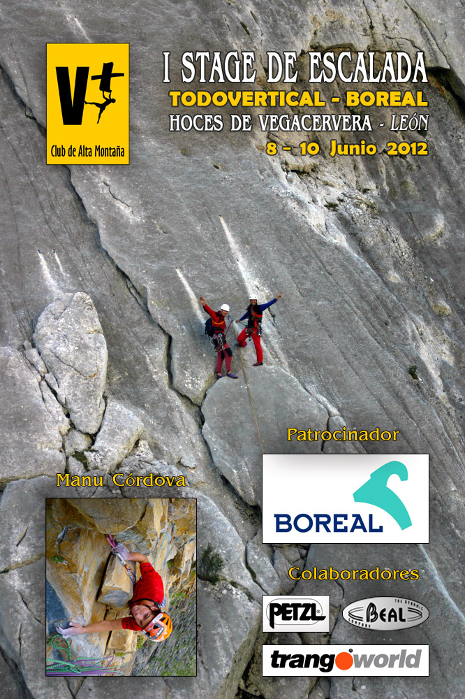 I STAGE ESCALADA TODOVERTICAL BOREAL - HOCES DE VEGACERVERA 2012