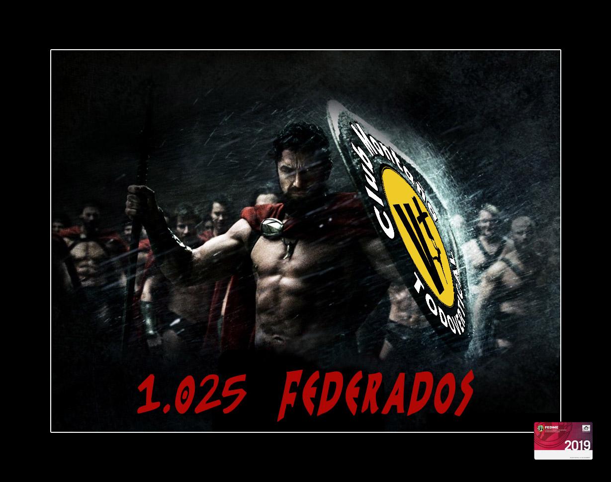 FELICIDADES YA SOMOS 1025 FEDERADOS EN EL 2019