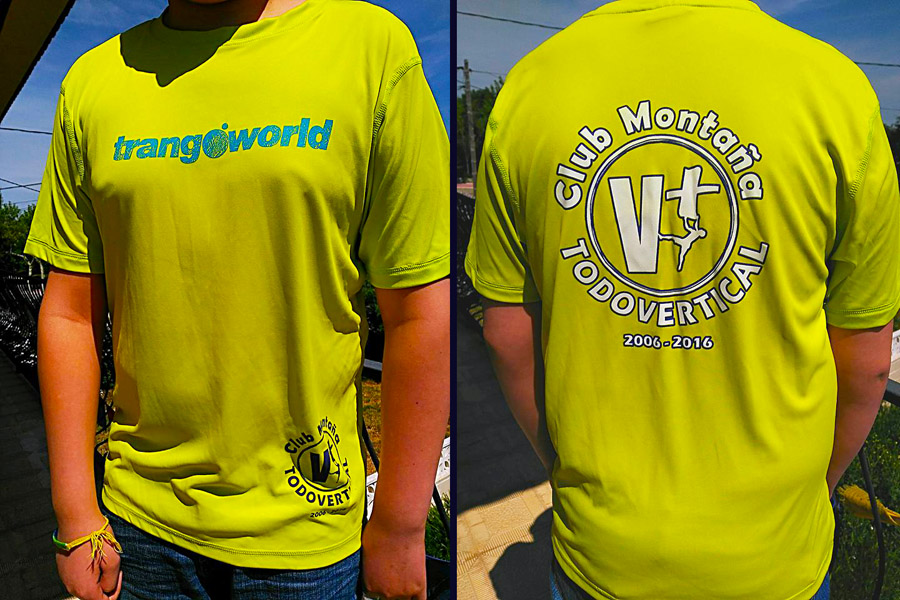 Camiseta TRANGOWORLD 10° aniversario del Club TODOVERTICAL