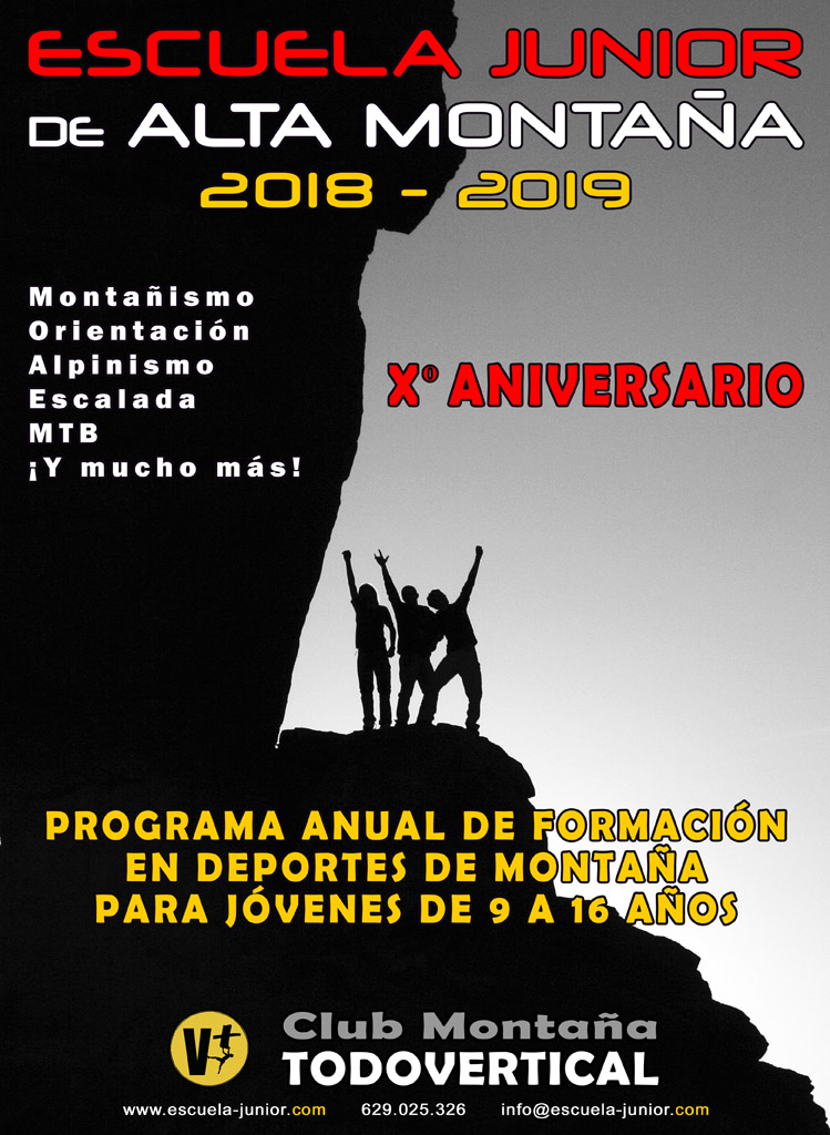 CARTEL ESCUELA JUNIOR 2018-2019 - Xº Aniversario