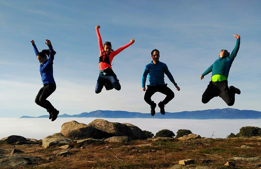 Saltando en el Cerro del Telégrafo 22-Dic-2018