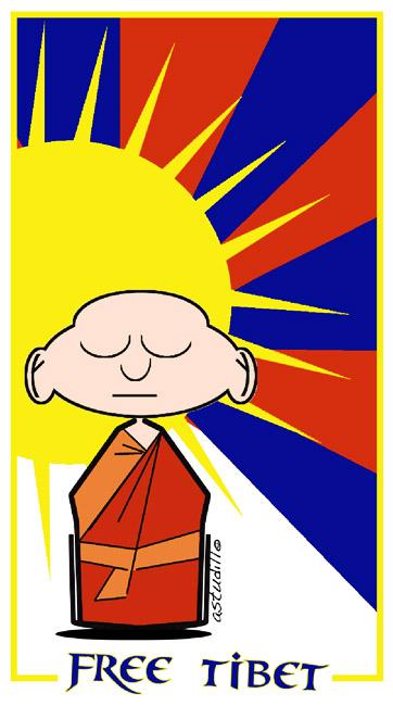 FREE TIBET 2012 - Consideramos que el colectivo montañero y alpinista tiene mucha sensibilidad con el problema actual de ocupación en el Tibet, y compartimos los ideales de un movimiento pacifico de liberación. Febrero 2012