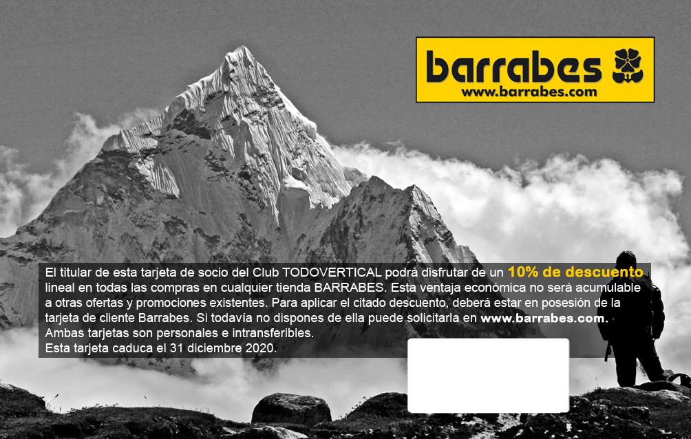 TARJETA BARRABES CLUB TODOVERTICAL 2018-2020